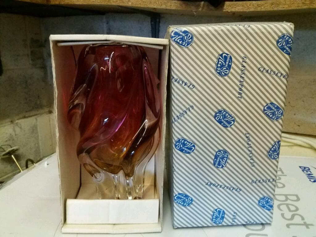 Czech Bohemia Glass Vase