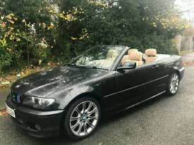 BMW 3 SERIES 320CD MSPORTS TURBO DIESEL CONVERTIBLE 2005 FACELIFT LEATHERS