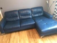 DFS Klein leather sofa