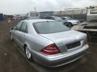 Mercedes s320 petrol car automatic breaking spare parts available