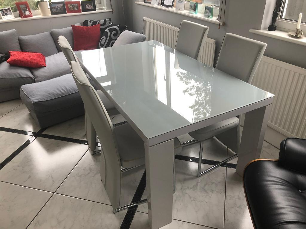 Grey Hi Gloss Dining Table With 6 Chairs In Liverpool Merseyside Gumtree
