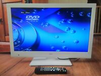 "Slim Bush 24 "" Inch LED HD tv dvd combi widescreen usb hdmi white, freeview dvd built in"