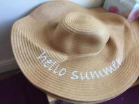 Two 'hello summer' sun hats