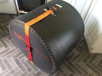 Hard bass drum case Black Mamba Hygrade, 1980s, vintage