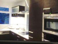 Modern Italian kitchen with Quartz work tops.