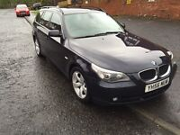 BMW 520d. 56 plate. 127k miles on clock. 6 speed manual. Estate. Black leather, £3000 ovno.