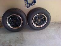 2 Chevy Rally rims and tires