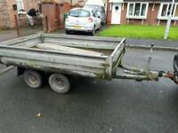 8ft by 5ft trailer 2.7 ton carry weight braked twin wheel