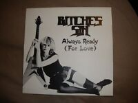bitches sin, always ready,picture sleeve only, neat records,nwobhm