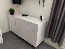 White high gloss sideboard