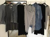 Maternity clothes bundle x10 size 10/12