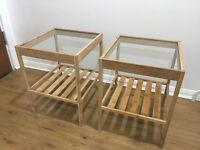 Ikea NESNA bedside tables