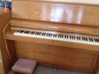 Challen piano good condition restrung, requires tuning, buyer collects