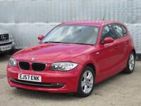 2007 (57 reg) BMW 1 Series 2.0 118d SE 5dr, LEATHER SEATS,1 Owner From New
