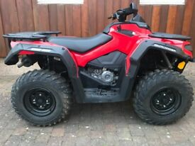 CAN-AM 450 OUTLANDER QUAD BIKE. ONLY 280 MILES FROM NEW