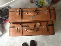 Tan matching suitcases