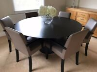 6 Seater Dining Table and Leather Chairs