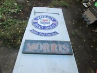 Morris Dealers Hanging Enamel Sign and Neon Sign