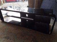 Alphason Lithium ADL1400-BLK Black TV Stand