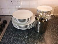 Tableware and cutlery for 6