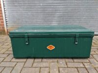 Vintage Metal Trunk/ Chest Green