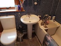 Complete Bathroom Suite with Shower and Taps £200.00