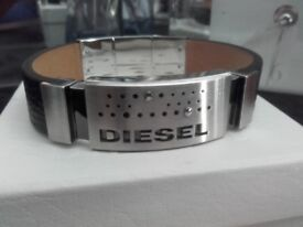 Men's Diesel Leather Bracelet