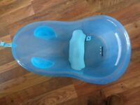 Blue Plastic Baby Bathtub