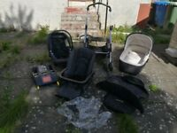 Mama's and Papa's MPX Travel System - Pram, Buggy and Car Seat plus accessories