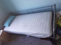 Ikea Day Bed 6ft6 x 3ft to include mattress and mattress cover. Buyer to collect. £50.00 no offers.