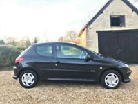 2005 Peugeot 206 1.1 Zest Low Mileage Cambelt Changed Long MOT Warranty Black Air Conditioning