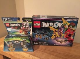 Lego Dimensions, Batman. Story Pack and Fun Pack.
