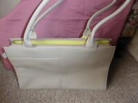 Radley Handbag NEW Stone colour with lime interior with Dust Bag