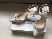 Beautiful ivory satin shoes