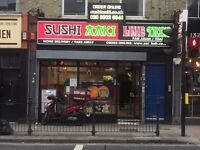 Sushi Shop for Sale /Commercial Kitchen / A3/A5 Licence ( 12 years open lease )