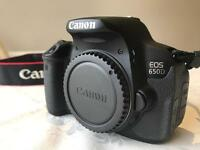 Canon 650d camera with zoom Canon lens 55-250 STM kit and bundle