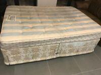 Dorlux Double Divan bed base and mattress