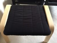 2 x IKEA Poang Chairs with Footstools- Black