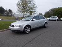 AUDI A4 SE SALOON 2.0 STUNNING SILVER NEW SHAPE 2001 FULL MOT BARGAIN ONLY 750 *LOOK* PX/DELIVERY