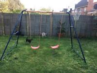 Swings / basket ball net / climbing frame
