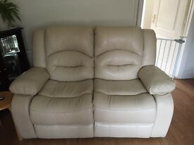 Two seater reclining sofa