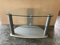 Stylish, modern, glass TV stand
