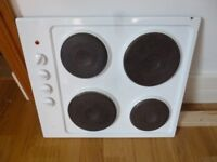 ELECTRIC HOB. 4 RING WHITE. WORKING ORDER.