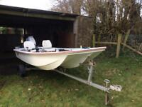 13 ft dory boat outboard trailer