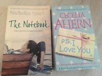 Romantic books - The Notebook and P.S I Love You