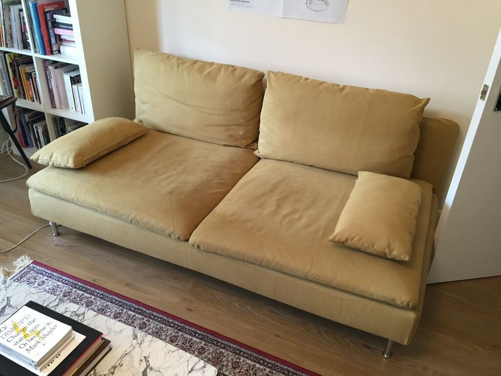 new sofa ikea s derhamn modern contemporary three seats dark yellow in finsbury park london. Black Bedroom Furniture Sets. Home Design Ideas