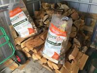 Logs and 2 bags kindling