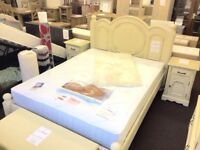 4ft6 Double Shabby Chic French Style Bed Frame.