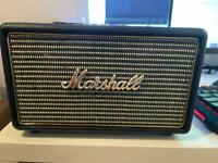 Marshall 3.5 mm Action Speaker with 4.0 Bluetooth. Black and Gold.
