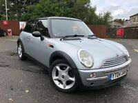 04 plate- mini cooper - 1.6 petrol - leather seats - electric sun roof full size - new clutch fitted